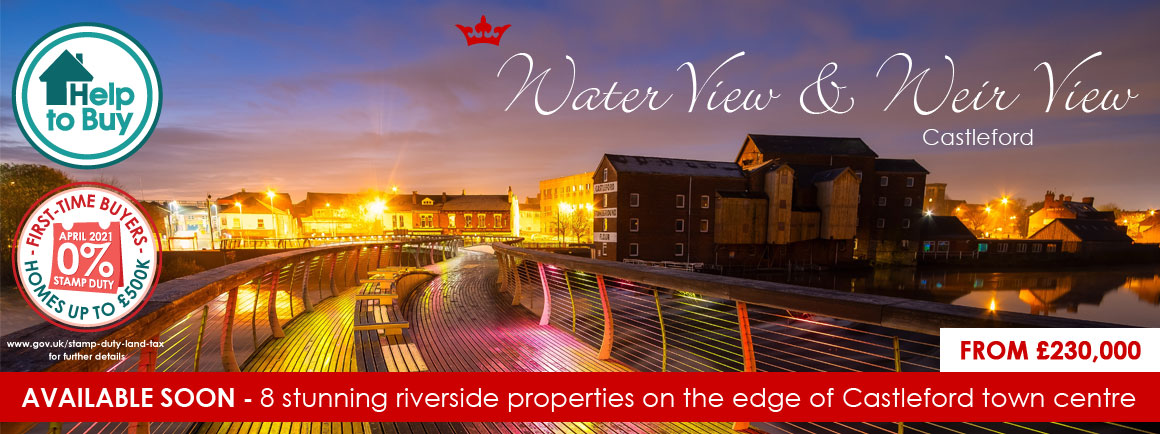 Riverside homes in Castleford, West Yorkshire