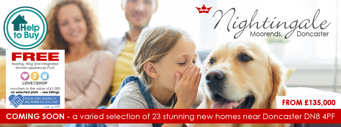 New houses for sale at Nightingale, Moorends, Doncaster