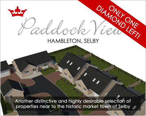 Brand new family homes in Hambleton, near Selby, North Yorkshire