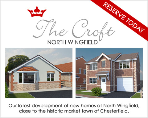 New build homes for sale in North Wingfield near Chesterfield