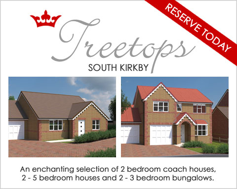 Brand new family homes in South Kirkby, near Wakefield, West Yorkshire