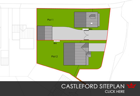 Self-build siteplan, Weir View, Castleford