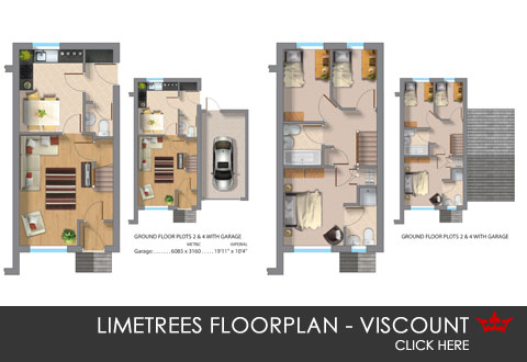 3D floorplan of the Viscount, a new build home in Pontefract