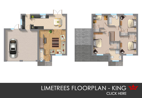King floorplan new build home in Pontefract