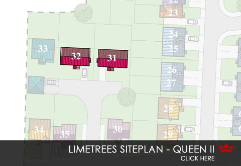 Siteplan showing location of the Queen new build home