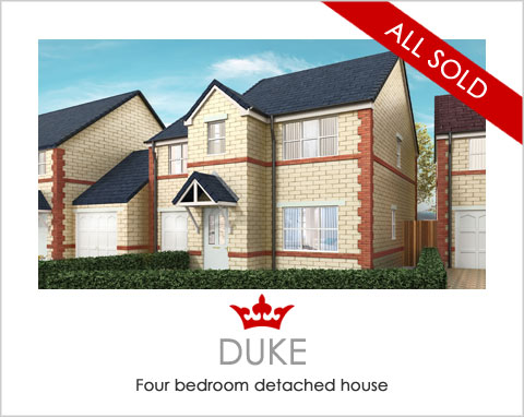 The Duke - new-build houses near Ferrybridge