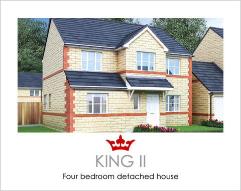 The King II - new-build houses near Ferrybridge