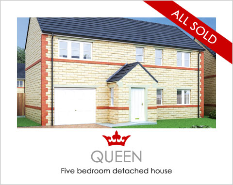 The Queen - new build houses near Pontefract