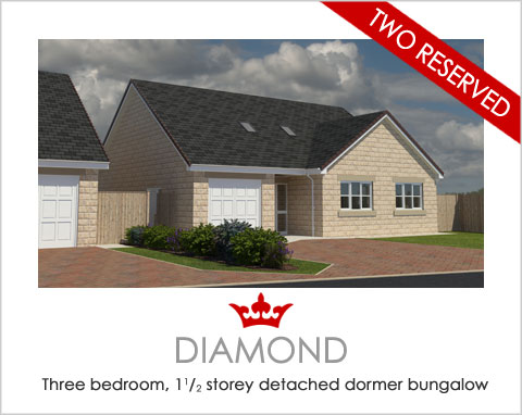 The Diamond - a new-build dormer bungalow by Noble Homes
