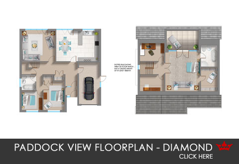 Paddock View - the Diamond - floorplan