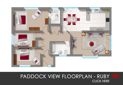 Paddock View - the Ruby - floorplan