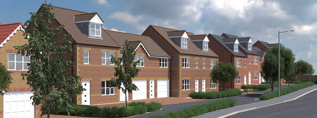 The Treetops - a new housing development in South Kirkby near Pontefract