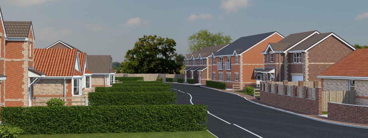 The Croft - new housing development in North Wingfield
